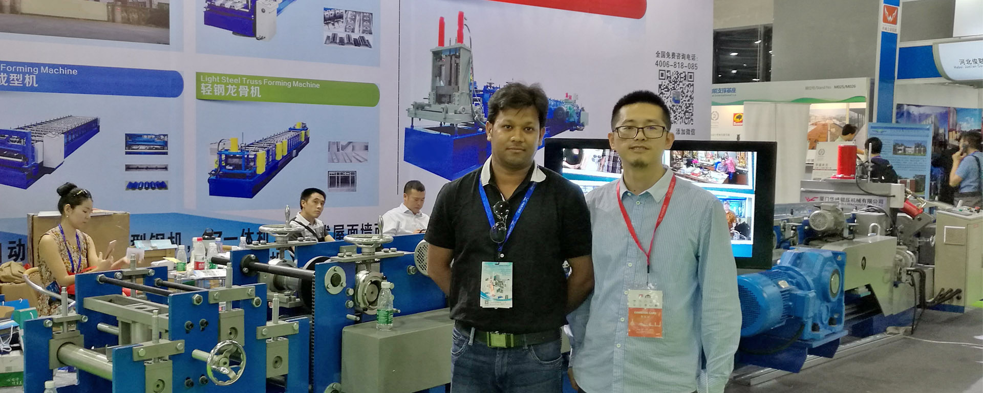 TATA Steel Engineer visit Roll Forming Machinery booth